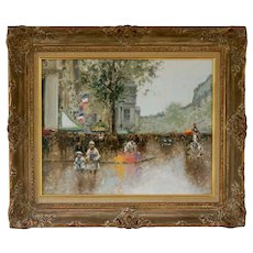 Paris Street Scene Painting by Andre Gisson