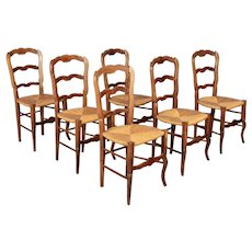 Set of Six Country French Dining Chairs