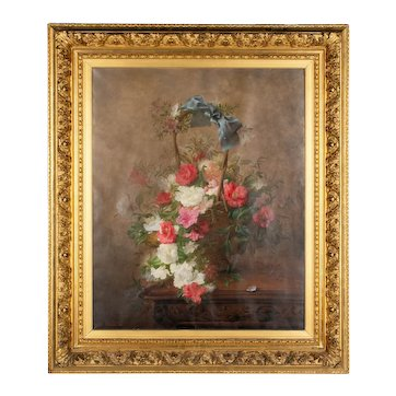 19th Century French Still Life Painting by Joseph-Eugène Gilbault