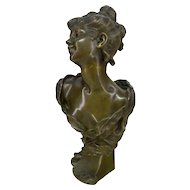 Bronze Bust of a Lady, signed Luigi Baliani