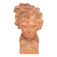 19th c. Terracotta Bust of Beethoven