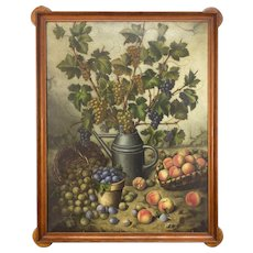 19th Century French Still Life Oil Painting