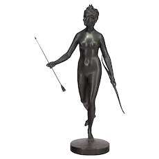 19th c. French Bronze of Diana the Huntress