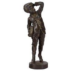 Antique French Schoolboy Sculpture Circa 1900