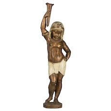 19th Century French Cast Iron Nubian Boy