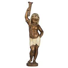 19th Century French Cast Iron Nubian Boy