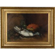 19th c. French Still Life with Fish