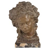 Italian Terra Cotta Beethoven Bust