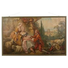 Large French Oil Painting