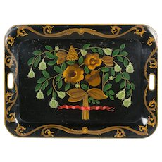French Napoleon III Painted Tole Tray