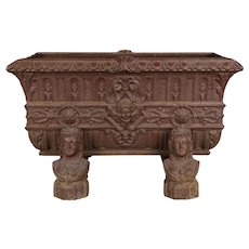 19th c. French Cast Iron Planter