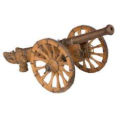 Antique French Miniature Model Cannon Circa 1900