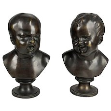 Pair of 19th Century French Bronze Babies