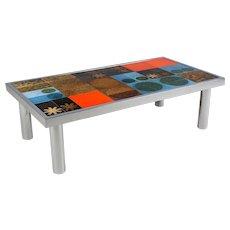 Mid Century Ceramic Tile Top Table
