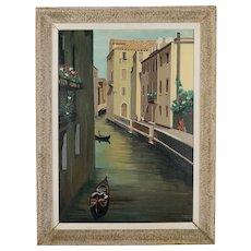 Mid Century Modern Painting of Venice