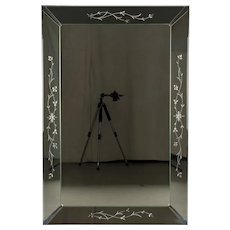 Large Venetian Style Etched Mirror