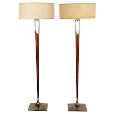 Pair of Mid-Century Modern Laurel Floor Lamps