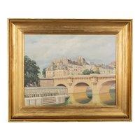 Art Deco Painting of the Pont Neuf Paris