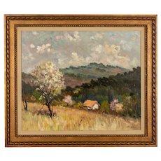 French Impressionist Style Painting by Eugene Sandrini