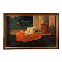 Mid-Century Still Life Painting by Hubert Gaillard