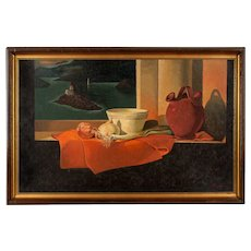 Mid-Century Still Life Painting by Hubert Gaillard