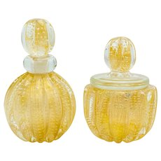 Murano Glass Perfume Bottle and Jar