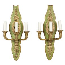French Empire Style Swan Motif Sconce Pair