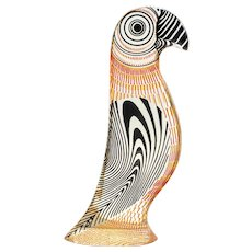 Mid Century Palatnik Op Art Lucite Parrot