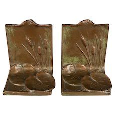 McClelland Barclay Lily Pad Bronze Bookends