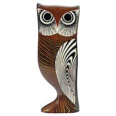 Mid Century Palatnik Op Art Lucite Owl