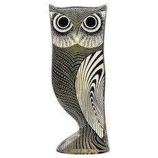 Mid Century Palatnik Op Art Lucite Owl Sculpture