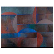 Modernist Abstract Painting by Richard Roberts
