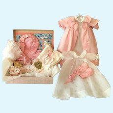 """1930's Effanbee Dy-Dee DELUXE Edition Christening SET for 15"""" Dy-Dee Jane"""