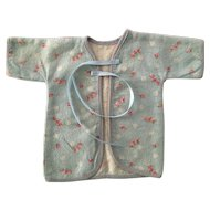 "13.5"" Tiny Tears factory issue Layette KIMONO Robe - Roses in Blue"