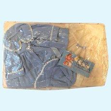 """MINT Effanbee 20"""" Dy-Dee Lou Outfit on Card -- Coat, Bonnet, Dress & Slip"""