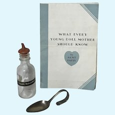 Vintage Effanbee Dy-Dee Doll Mold l EARLIEST Bottle and  REAL Silver Spoon
