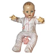 "MINT *MINT Original Effanbee Dy-Dee LOU FOOTED Pajamas for 20"" Baby Doll"