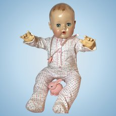 """MINT *MINT Original Effanbee Dy-Dee LOU FOOTED Pajamas for 20"""" Baby Doll"""