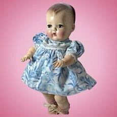 """11.5"""" Tiny Tears Blue Cotton Daytime Dress"""
