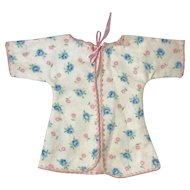 "RARE Effanbee 9"" Dy-Dee WEE Layette Robe Blue Roses"