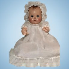 "Vintage 1940's / 1950's 13.5"" Tiny Tears / Dy-Dee Baptismal / CHRISTENING Gown Set w/ Embroidery"