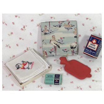 COLD and FLU -- Vintage Accessories for Dy-Dee Baby Layette -- Darling !