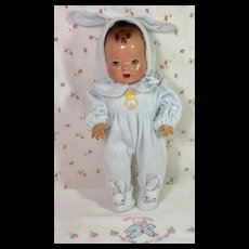 """Last pair ! Darling Pair EASTER BUNNY RABBIT Footed Pajamas for 11"""" Tiny Tears / Dy-Dee --BLUE"""