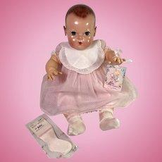 """Vintage 20"""" Effanbee Dy-Dee Lou Organdy Dress, Slip, BIB, Socks"""