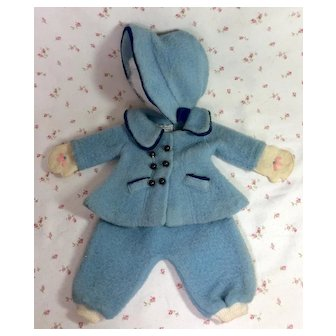 "TAGGED 1930's Molly-'es Eiderdown SNOWSUIT for 14"" to 15"" Shirley Temple / Effanbee Patsy Family Doll"