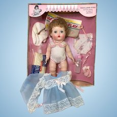 "Early 1960's Tiny Tears 12"" Baby Mint in Box with EXTRA Outfit"