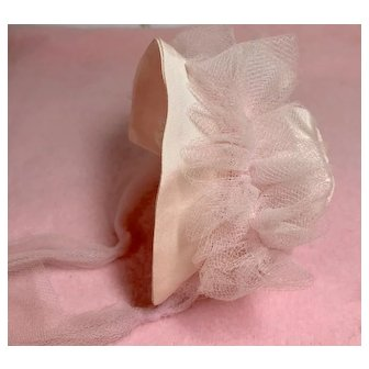 """Silk Taffeta and Tulle Bonnet for 11"""" Tiny Tears and Dy-Dee"""