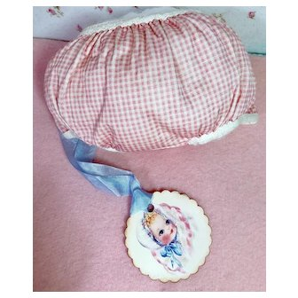 """MINT * Pink Gingham Rubber Pants for 15"""" Dy-Dee Jane #2"""