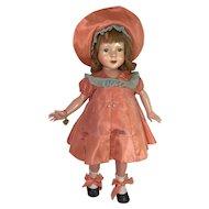 "1930s Effanbee 21"" Barbara LOU Dewees Cochrane AMERICAN CHILDREN Doll"