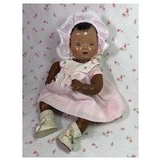 "RAREST Mold 1 Effanbee Dy-Dee Doll — 1937 Black / Sun Tan 11"" Baby"